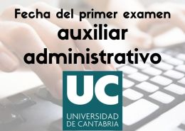 fecha-examen-auxiliar-administrativo-universidad-de-cantabria Academia oposiciones administrativo Cantabria