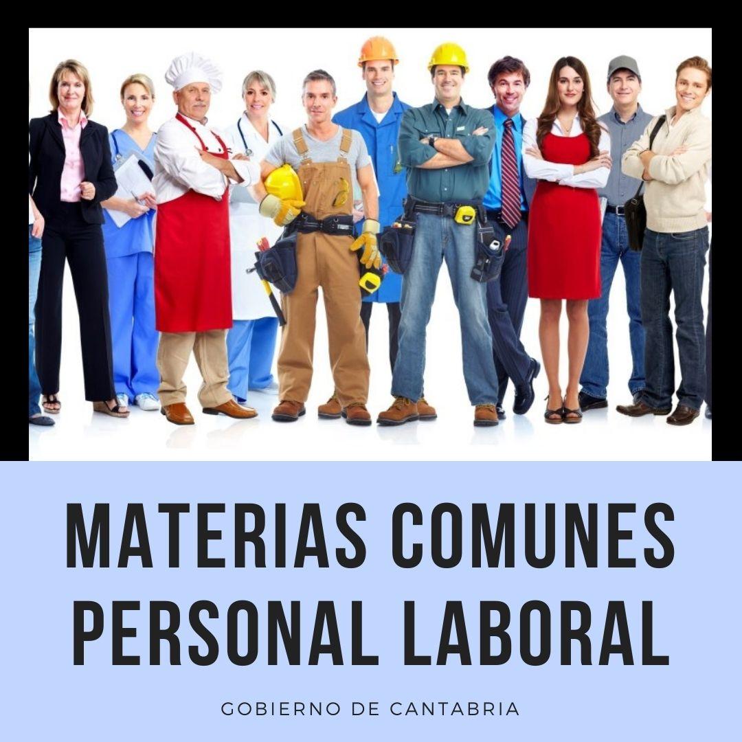 materias-comunes Novedades procesos oposiciones personal laboral 2021 Cantabria
