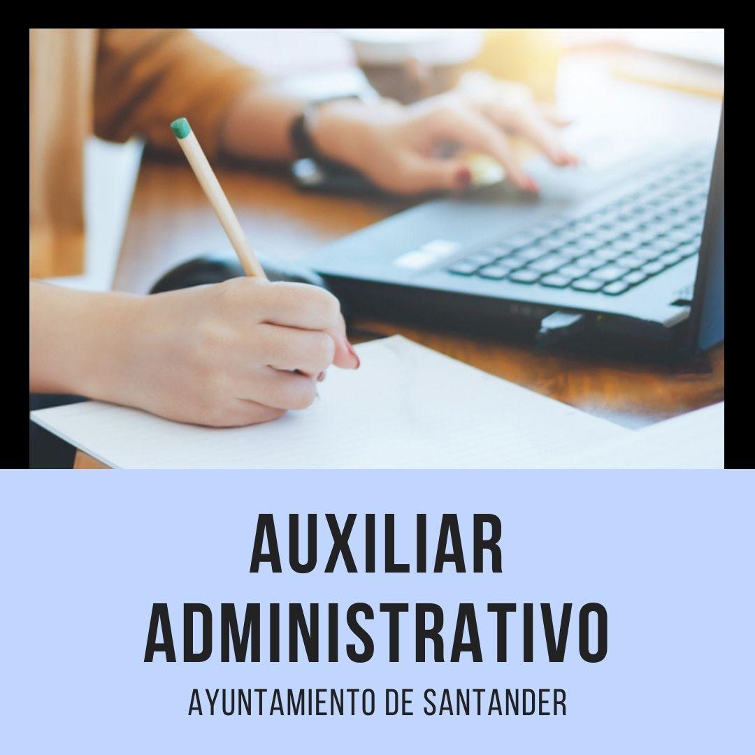 CURSO-AUXILIAR-ADMINISTRATIVO-SANTANDER Oposiciones Auxiliar Administrativo Santander