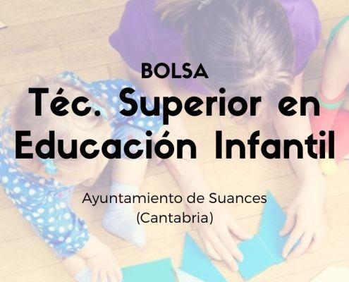 bolsa tecnico educacion infantil Cantabria Suances