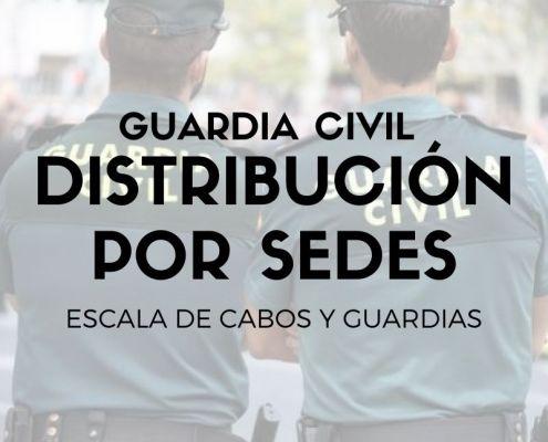 sedes oposicion Guardia Civil 2021