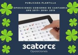 Publicada-plantilla-respuestas-examen-oposiciones-Empleado-de-servicios-Cantabria Oferta Empleo Publico 2019 Estado