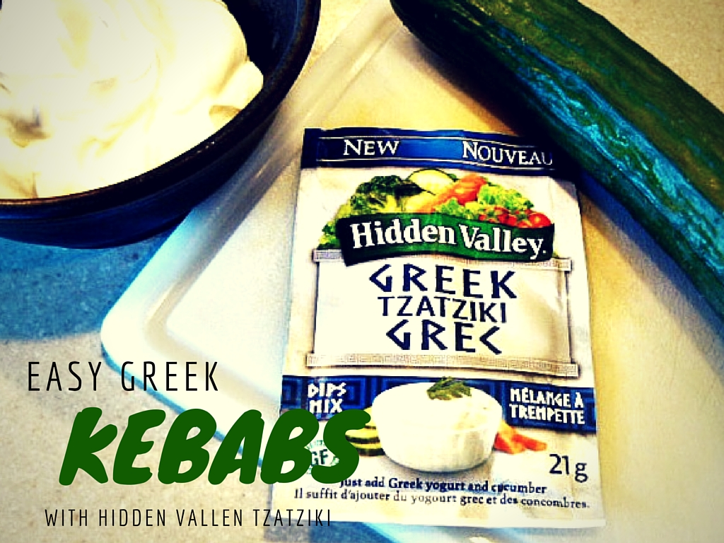 "Easy Greek ""Power Off"" Dinner with Hidden Valley Tzatziki"