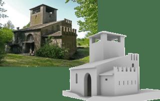 3D ArcheoLab modello 3D Rocca Sparafucile
