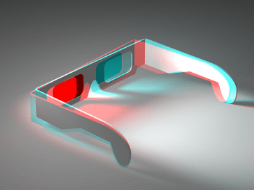 3D glasses - anaglyph
