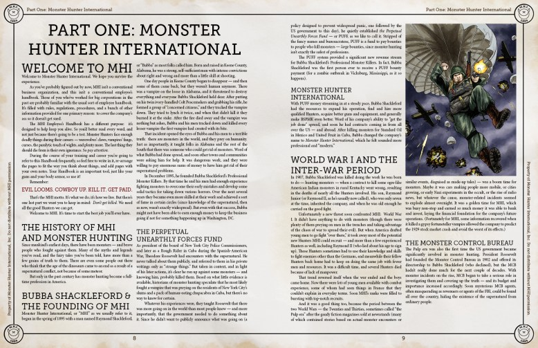 Monster Hunter International Sample
