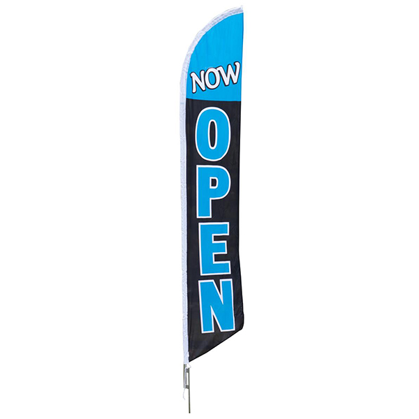 Aluma Pole Flag | Now Open Flag