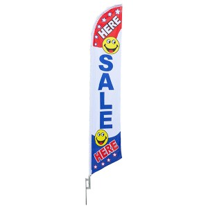 Aluma Pole Flag | Sale Here Flag
