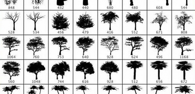 [:it]Set pennelli di alberi per photoshop[:en]Trees Photoshop Brushes free download[:]