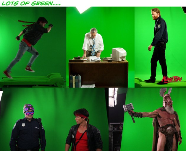 kung-fury-making-of-green-screen