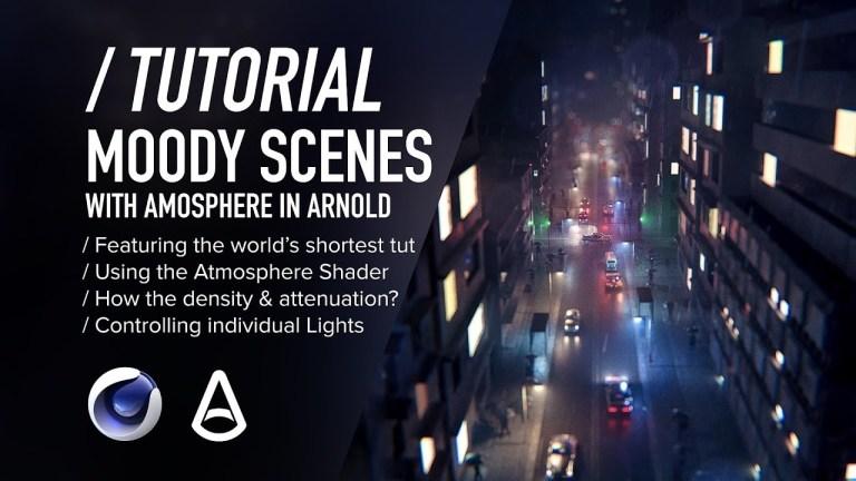 C4D & Arnold TUTORIAL - Moody Scenes using Atmosphere