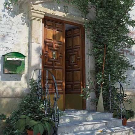 House scene C4D in Vray