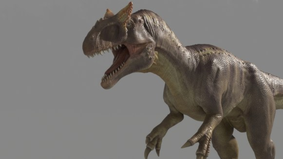 Allosaurus Dinosaur Maya Rig