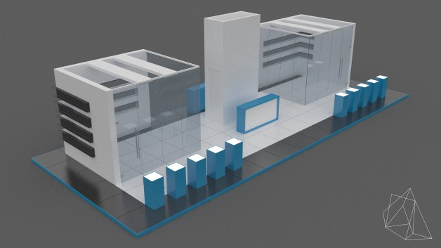 Free 3d Exhibitions Stands And Stages Model 3dart