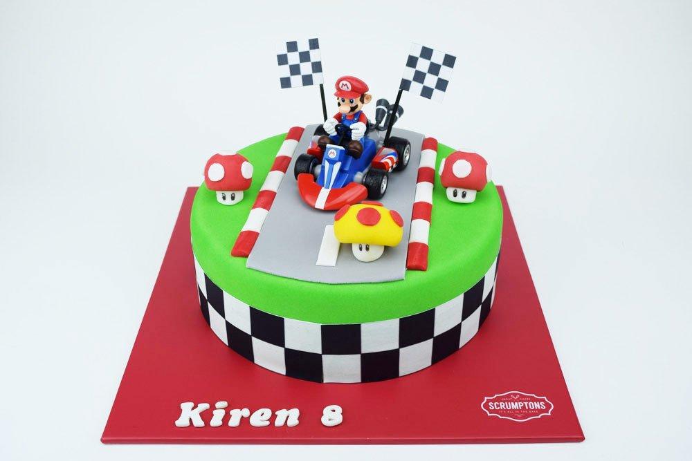 Mario Kart Cake Mario 3d Printed Cake 3d Cake Store