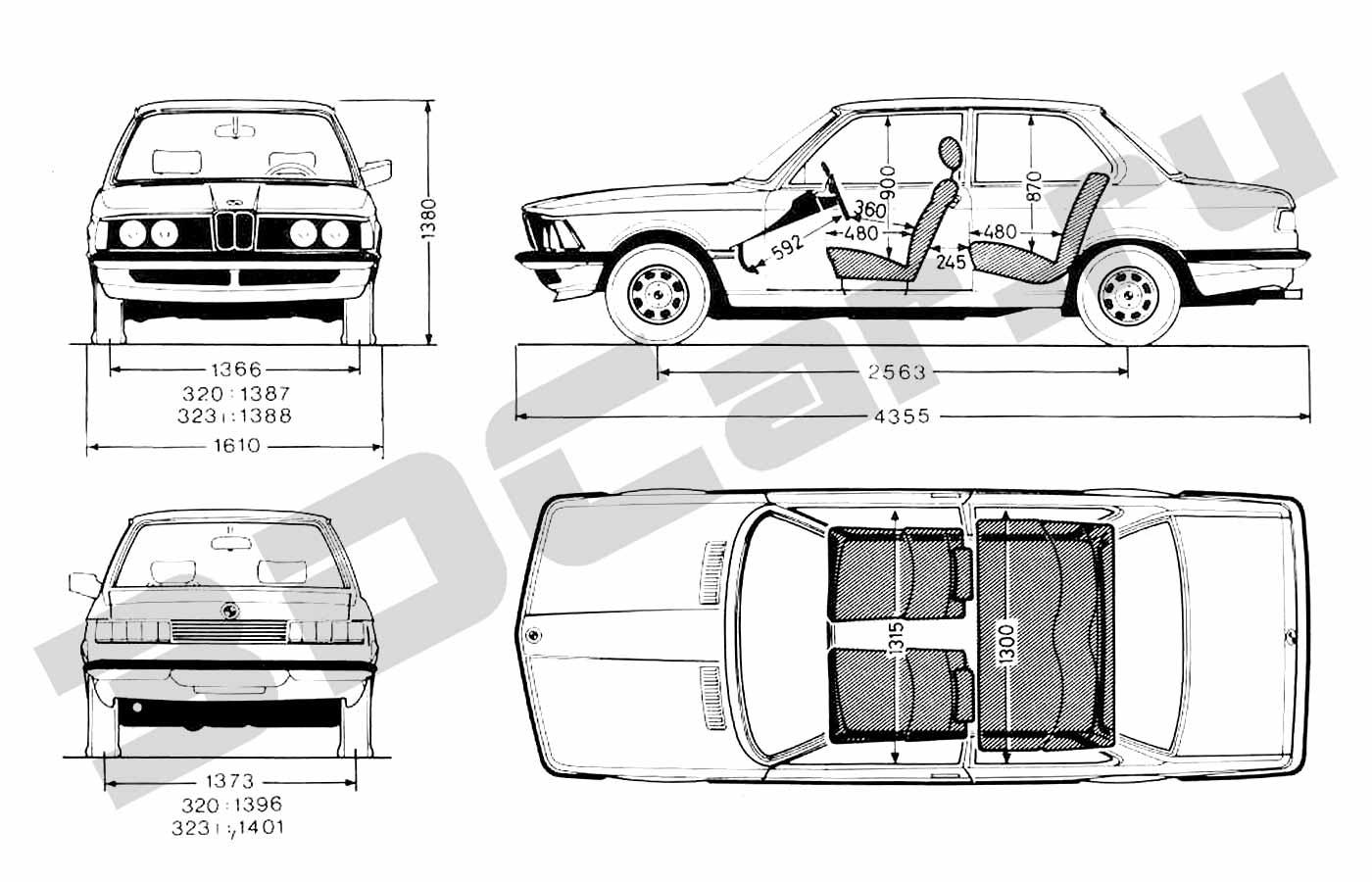 Bmw 3 Series E21 3dcar