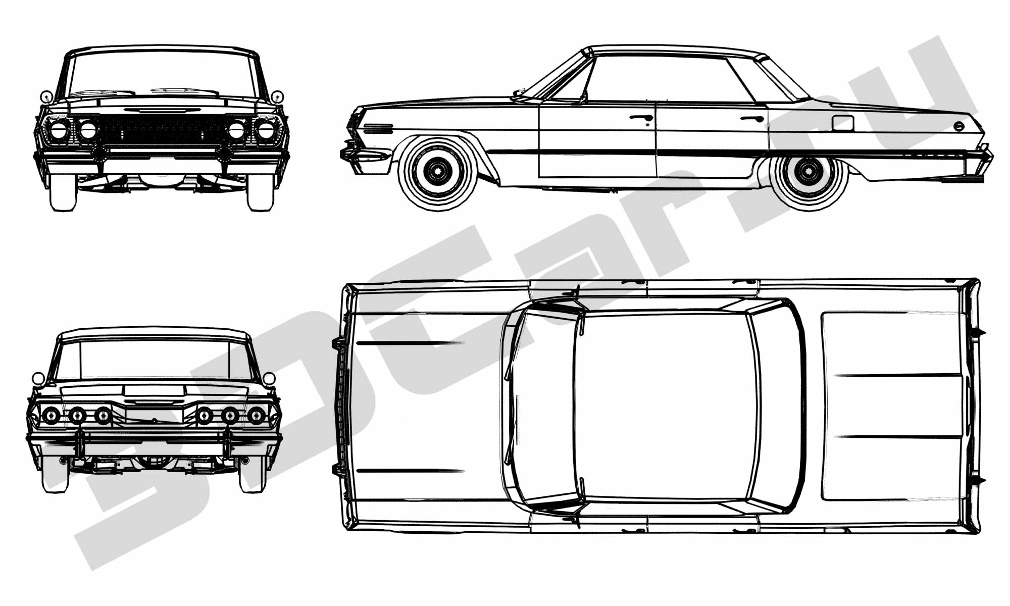 Chevrolet Impala 3dcar