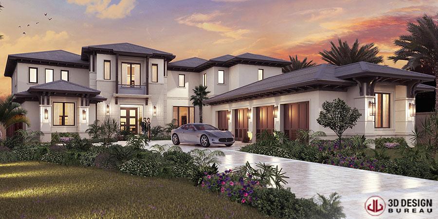 3D Design Bureau 3D Renderings Help Sell 9m Florida Mansion