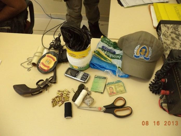 Parte dos produtos apreendidos durante ação dos policiais civis e militares de Xapuri – Foto: Amax Xapuri