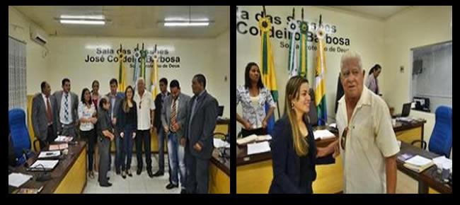 Seu Vanjú, recebe os cumprimentos da Vereadora Fernanda Hassem