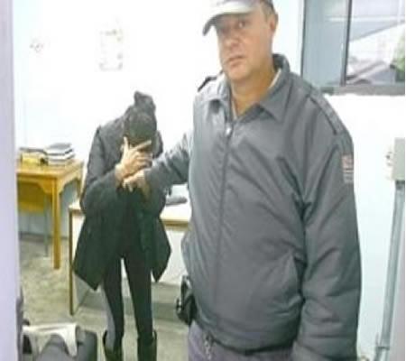 I.L.S., 48 anos, foi levada para a delegacia após tentativa de homicídio – Foto: Divulgação