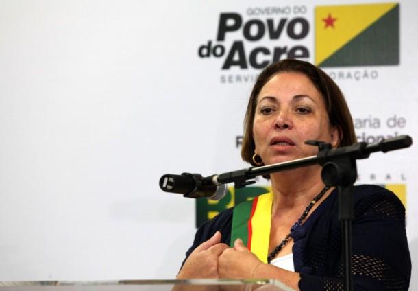 Ideli Salvatti ressaltou que o Acre, tampouco o Brasil, não pode ficar refém de interesses de empresários (Foto: Sérgio Vale/Secom)