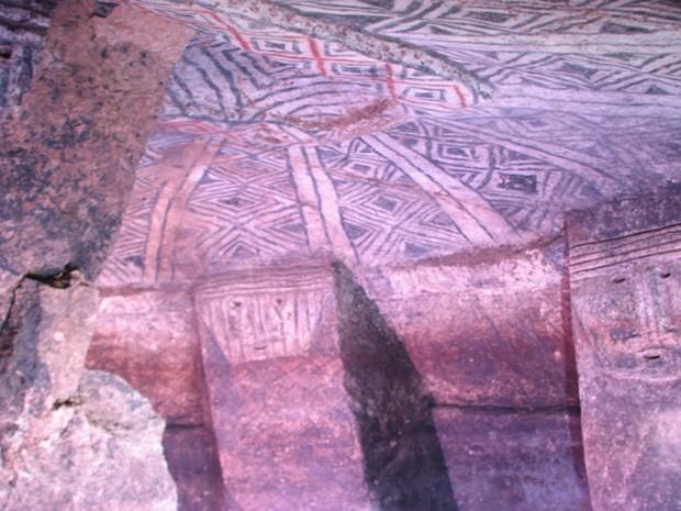 Tumba indígena construída há mais de 1 mil anos localizada no sul da Colômbia (Foto: Deonir Marcos Bartnik/VC no G1)