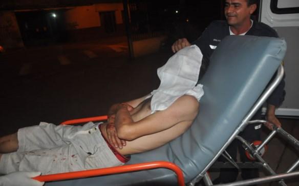 Golpe atingiu o queixo e parte da face da vítima/Foto: Selmo Melo