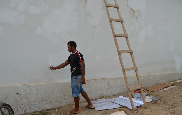 Atleta começa seu trabalho a partir das 7h (Foto: Diego Torres)