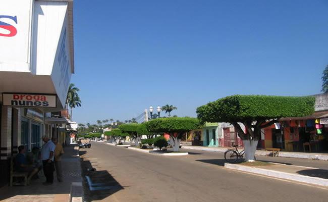 Região central da cidade de Brasiléia no estado do Acre.