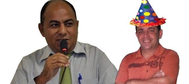Vereador Naldo Rufino (SDD), esquerda e suplente Rogério Pontes (PMDB)