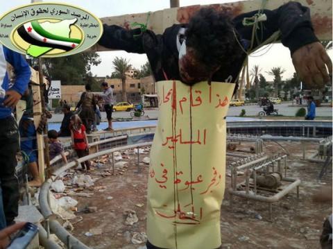 Cristãos voltam a ser crucificados na Síria