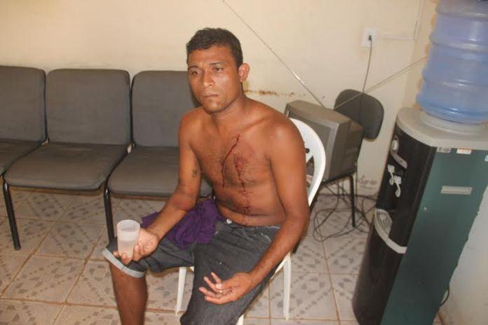A vítima foi socorrida pelo Samu e encaminhada ao PS/Foto: Selmo Melo/ContilNet Notícias