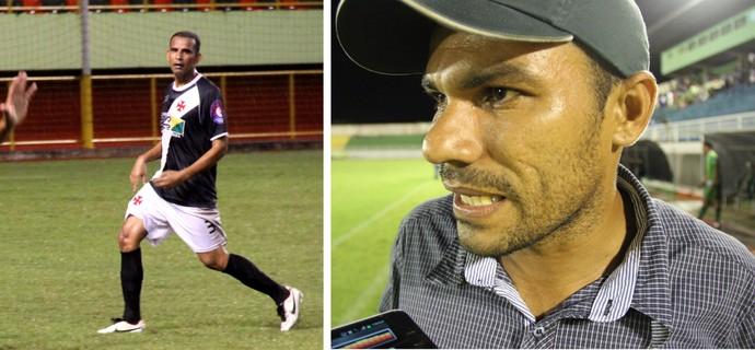 Zé Macaco, zagueiro do Vasco-AC, e Vaca, ex-técnico e jogador do Alto Acre