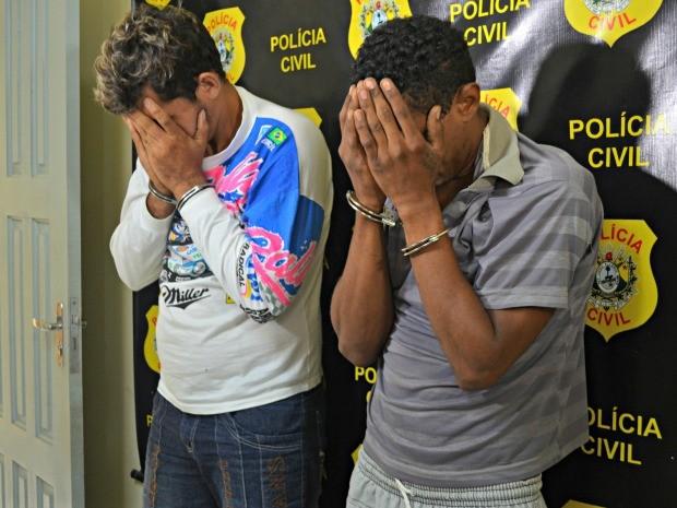 Presos são suspeitos de roubos e assaltos praticados na capital acreana (Foto: Aline Nascimento/G1)