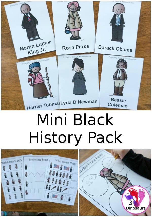 Mini Black History Month Pack 3 Dinosaurs