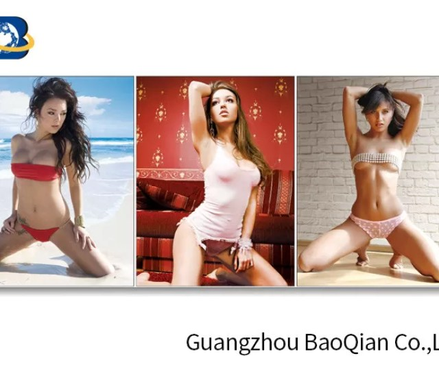 Eco Friendly Material Lenticular Flip Beautiful Sexy Girl D Picture Wall Hanging Art