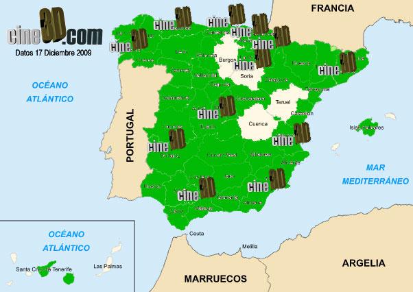 Mapa 3D Spain Dic09