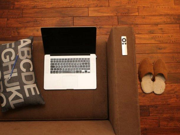 laptop e pantofole