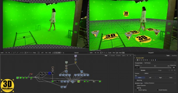 3D Camera Tracking e Digital Compositing wip