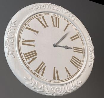 3D Model Of European Style Wall Clock 3D Model Download