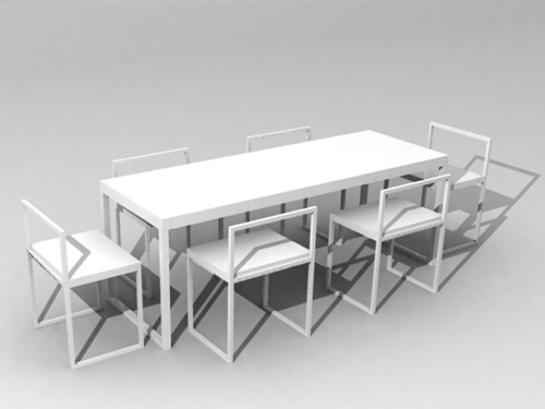 Pure White Rectangle Chair 3D Models 3D Model DownloadFree 3D Models Download