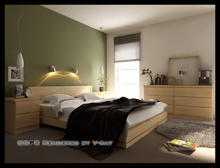 Simple Bedroom Model 3D Model DownloadFree 3D Models Download
