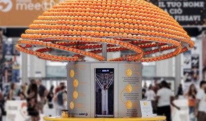 orange peels 3D printed cups