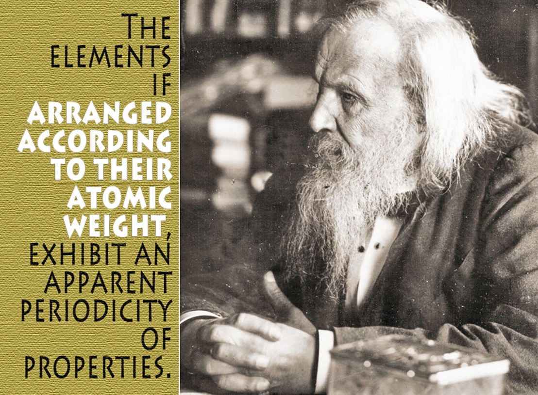 The Periodic Law Of Dmitri Mendeleev Modeled By The