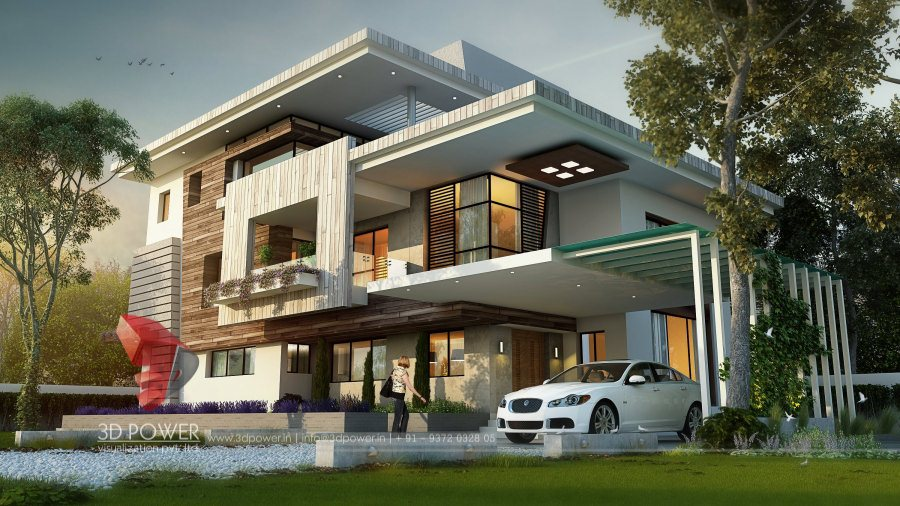 Bungalow Home Plans Amritsar 3D Power