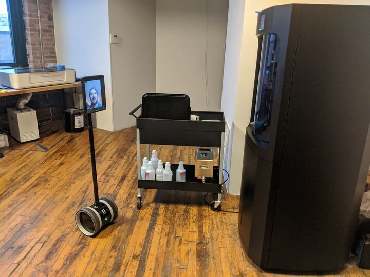 Virtual showroom at a 3D print reseller in action [Source: Dynamism]