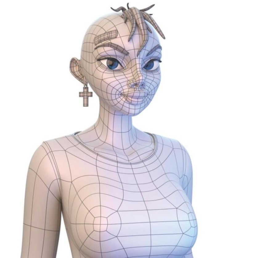 A wireframe mesh figure design [Source: Amazon]