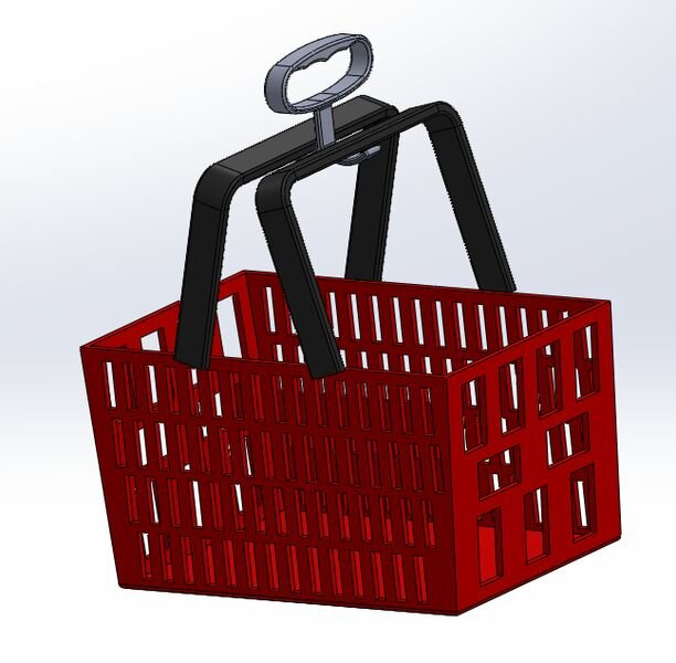 No touch grocery basket handle [Source: Cad Crowd]