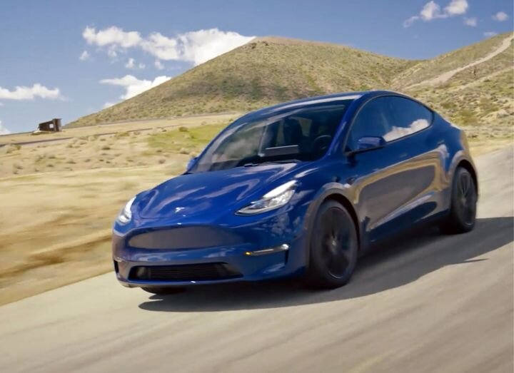 The Tesla Model Y (in blue, our favorite color) [Source: Tesla]